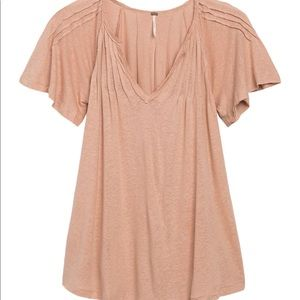 Free People Tops - Free People Lovely Day Tee Dusty Rose Pink L NWT